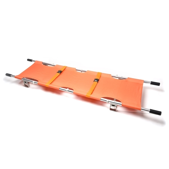 Four parts foldable recovery stretcher, emergency rescue 4 folding stretcher, emergency aluminum alloy folding stretcher
