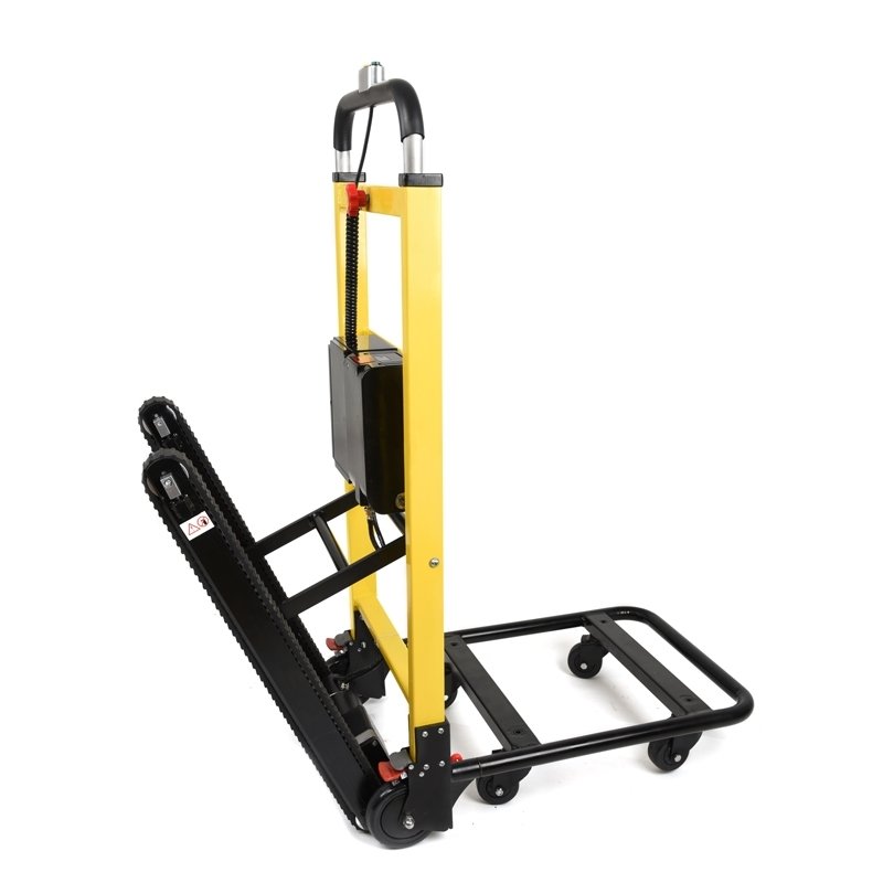 Power stair climbing hand truck electric stair climber for Motorized stair climbing dolly