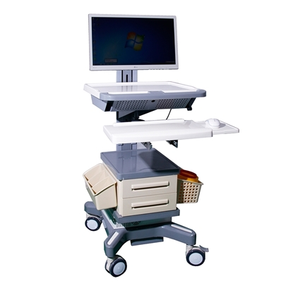 Picture of Hospital Battery-Powered Integrated Computer Cart AO-LT04
