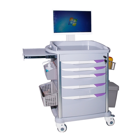 Picture of Medical Battery-Powered Computer Cart AO-NC-10