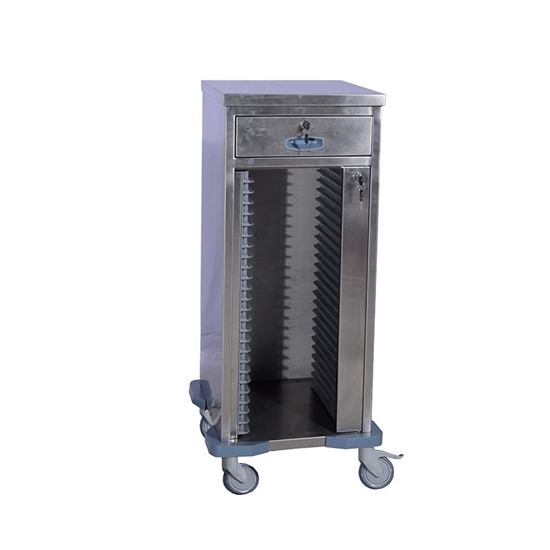 Picture of Stainless Hospital Chart Holder Trolley AO-MRC02