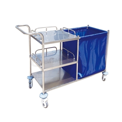 Picture of Hospital Triple Trays Trolley with Waste Bin AO-SSB002