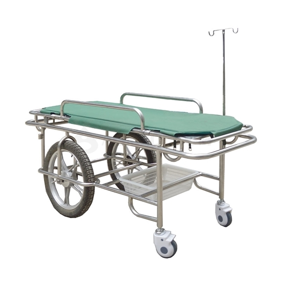 Picture of Hospital Emergency Stainless Steel Stretcher (AO-SSA007)