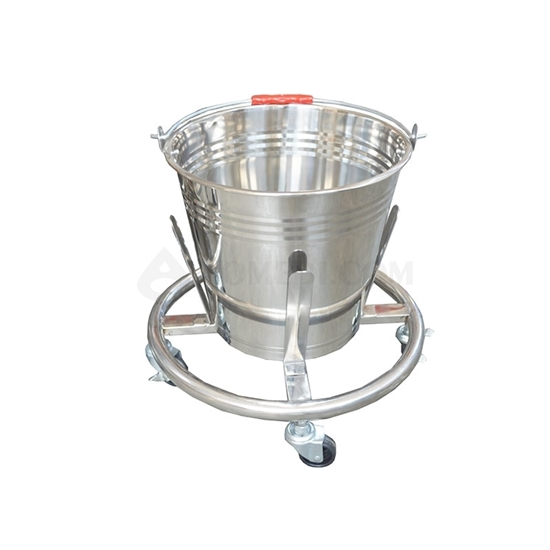 Picture of Stainless Steel Kick Bucket on Casters AO-SSA011