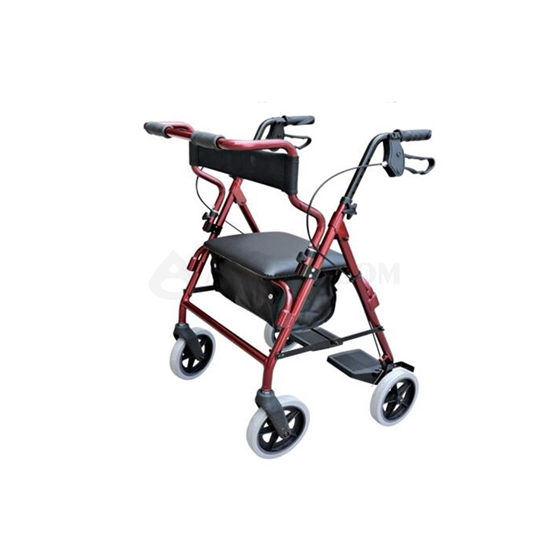Picture of Durable Outdoor 4-Wheel Rollator Red(AO-AR105)
