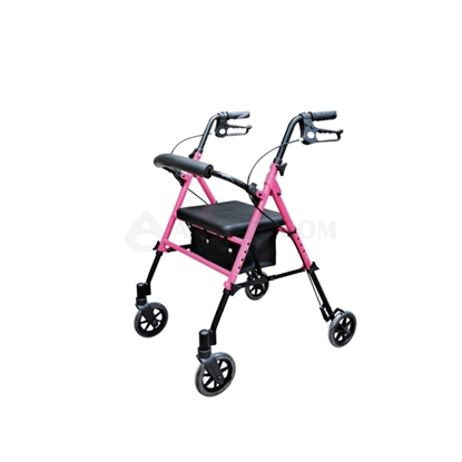 Picture of Outdoor 4-Wheel Rollator Pink(AO-AR102B)