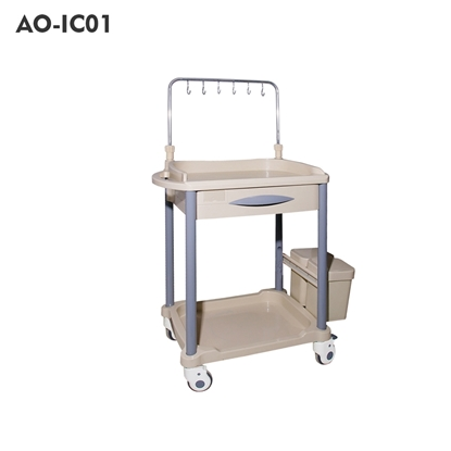 Picture of Hospital Infusion Trolley with Drawer (AO-IC01/AO-IC03/AO-IC06/AO-IC08)