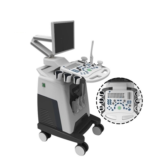 图片 Mobile Medical Color Doppler Ultrasound System Trolley