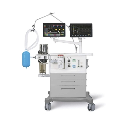 Foto de Trolley-mounted anesthesia workstation with respiratory monitoring